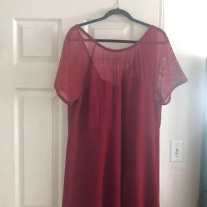Red heart shape neckline dress